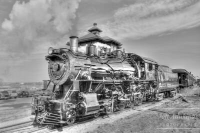 Mirrored Steam Locomotive