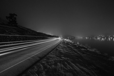 Skaha Smokey Light Trails BW 2018
