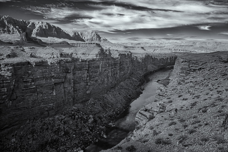 View of the Colorado River at Marble Canyon, Arizona