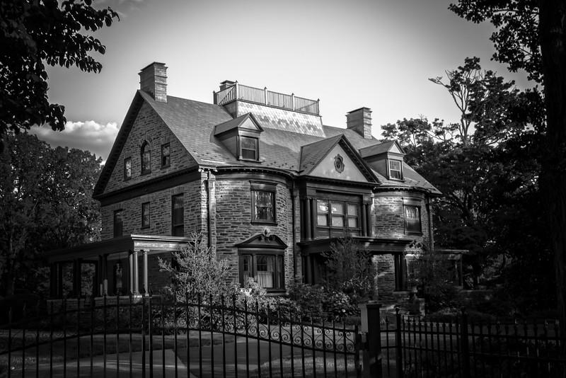 Luxurious mansion in Chestnut Hill, Pennsylvania.