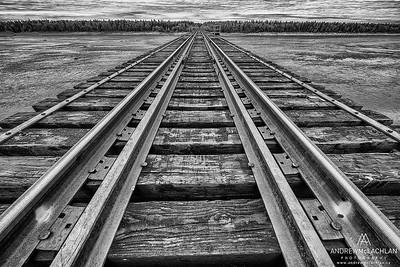 Moose River Railway Crossing, James Bay Lowlands, Ontario, Canada