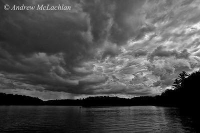 Storm Clouds Over Horseshoe Lake, Parry Sound, Ontario