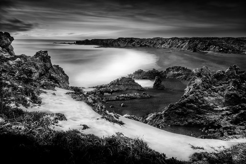 Black Sand Beach in Western Iceland