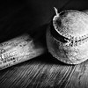 "Feb 10 - The Old Louisville Slugger<br /> <br /> This wooden bat and ball also belonged to my husband's dad when he was young. <br /> <br /> I haven't been able to comment much but was able to yesterday.  From other's comments, I see that there is a ""still life"" challenge for Sundays images.  I usually don't post on weekends and took this image before I knew about the challenge.  So, I am posting this today and will probably post another still life tomorrow.  I am learning and playing with light set up as well.<br /> <br /> Thanks for your comments on my rose pedal image I posted yesterday."