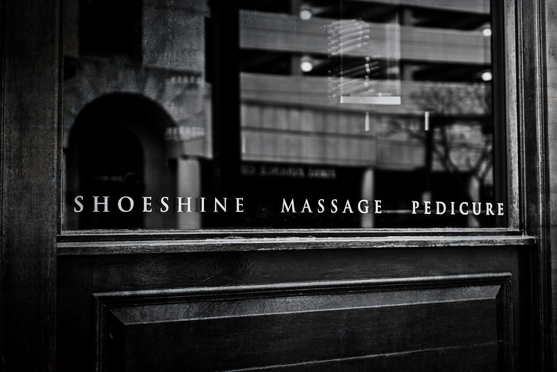 shoeshine  massage  pedicure