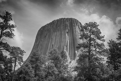 Devils Tower in BW