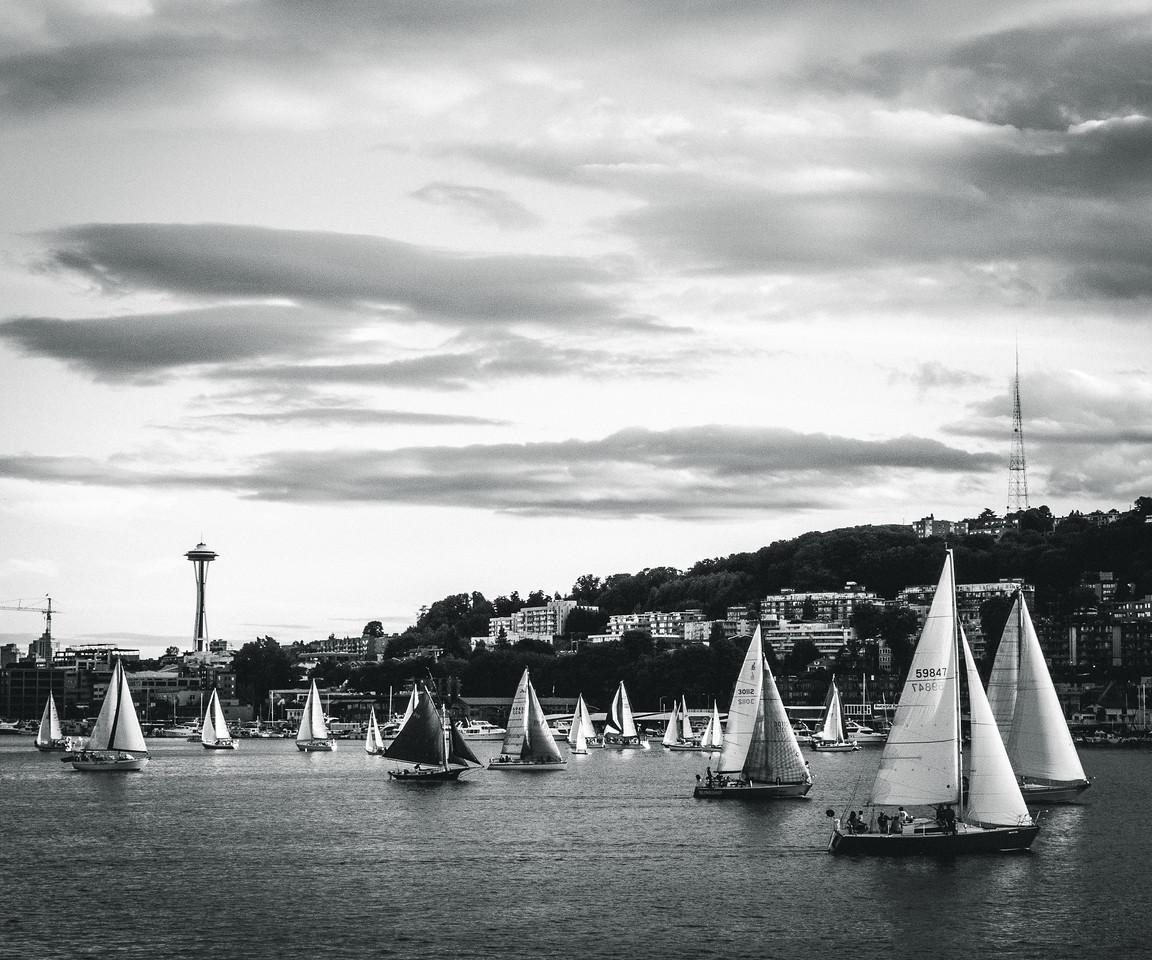 Sailing on Lake Union | Seattle, WA | June 2014