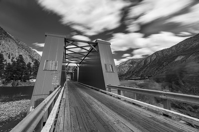 Keremeos Red Bridge BW Long Exposure 2