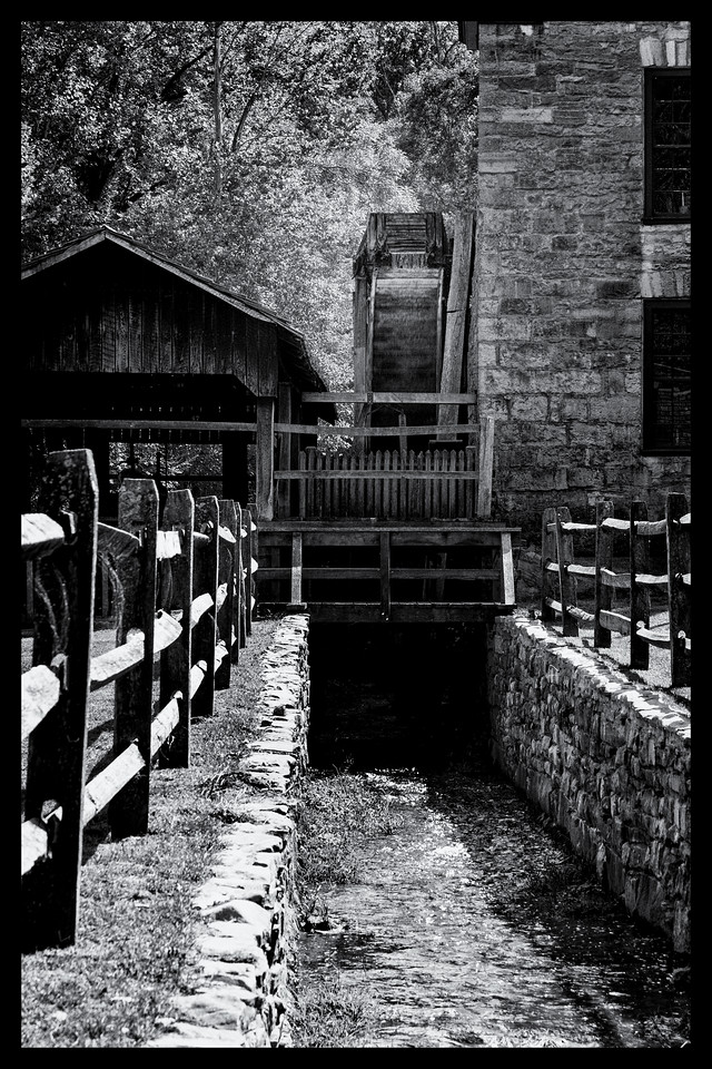 Spring Mill in Black and White