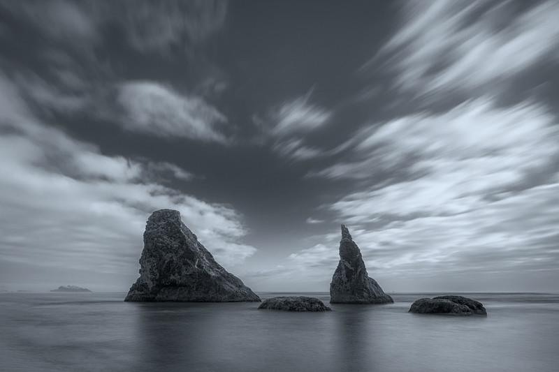 Long exposure on Bandon Beach, Oregon Coast