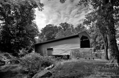 Bartram's Covered Bridge BW