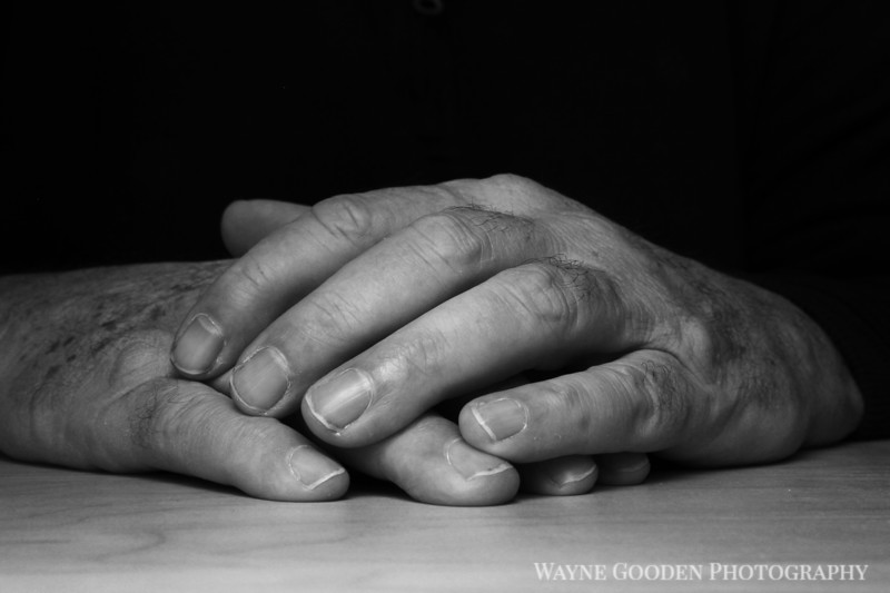 Folded Hands Black and White