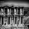 Library of Celsus from a distance in Ephesus, Turkey