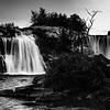 Lundbreck Falls B&W