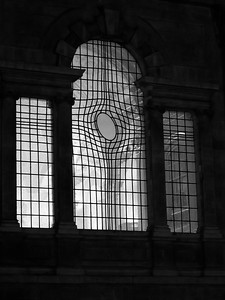 Church window in London
