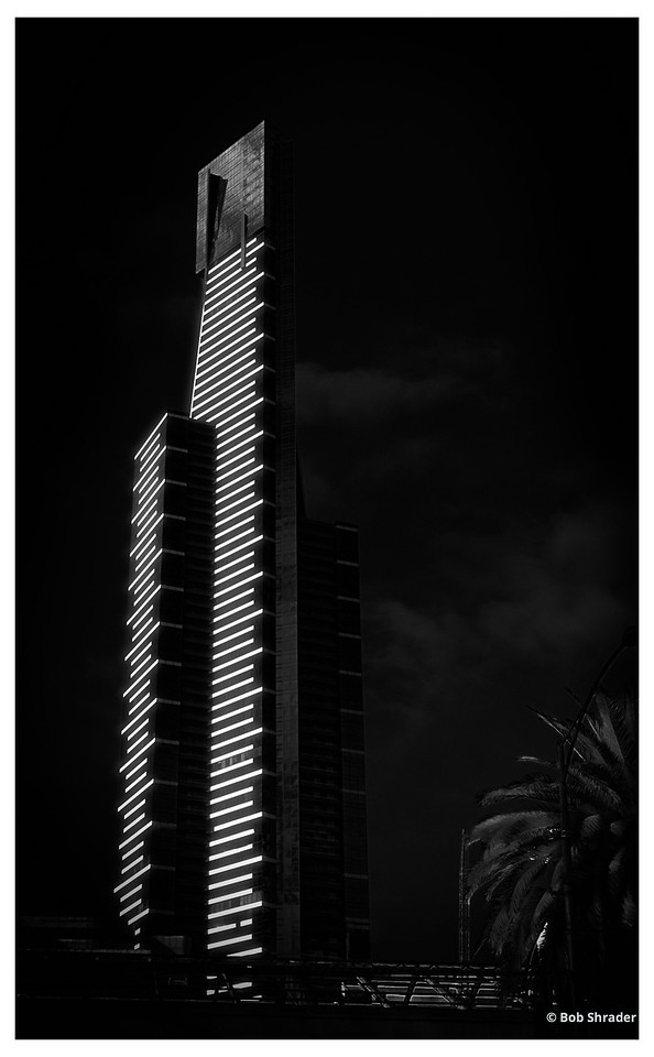Eureka Tower in Faux Infrared