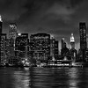 View of Lower Manhattan from Brooklyn (black and white)