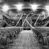 Vaudeville theater in black and white, Panorama