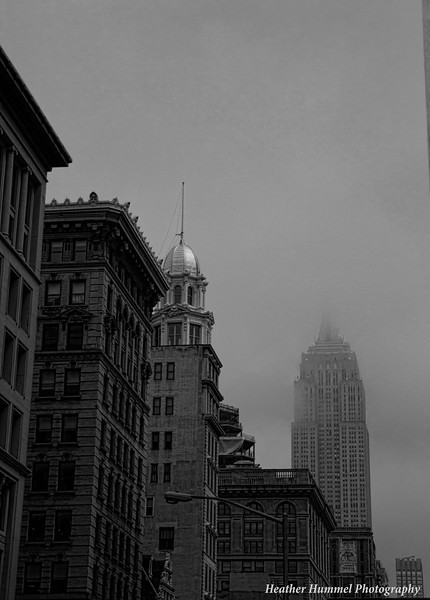 Empire State Building in the Fog, New York City