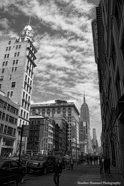 Empire State Building in the Distance and in Black and White