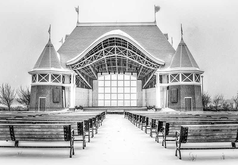 Lake Harriet Bandshell B & W