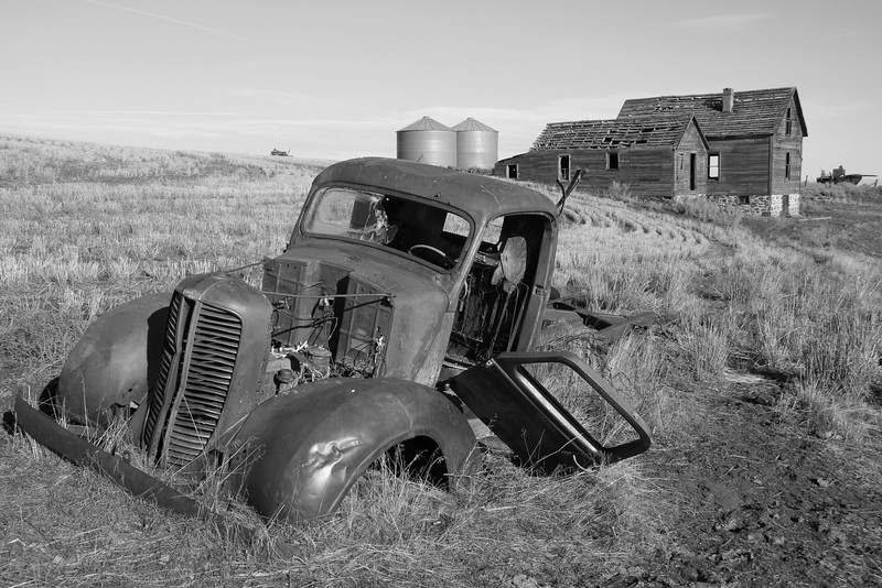Dodge brothers truck and forgotten farm house