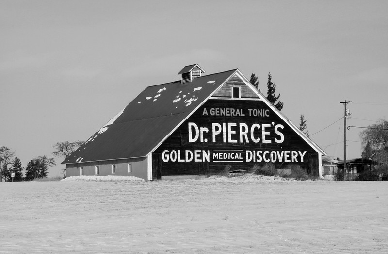 Dr. Pierces barn advertising