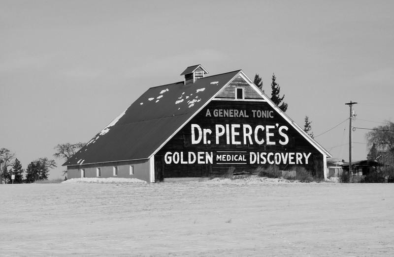 Dr. Pierces barn advertising