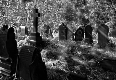 Gothic looking cemetery (Beckett street, Leeds). Spooky...