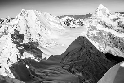 Top of Alpamayo, Peru B&W