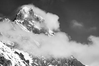 Nearing Zermatt B&W