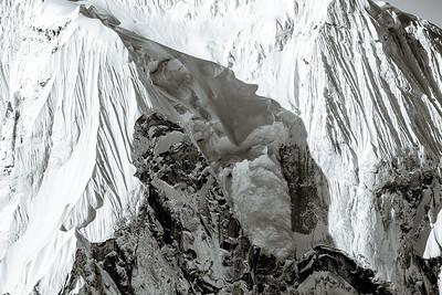 The Ruth Gorge Peak high detail B&W