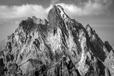 South Side of the Grand Teton B&W