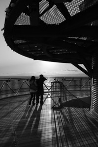 A couple on the Sea Candle tower, Enoshima.