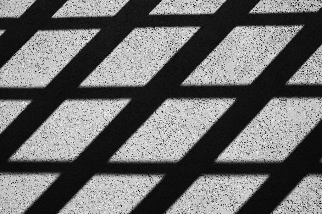 Wall shadows. Near the Plaza in Santa Fe, New Mexico.