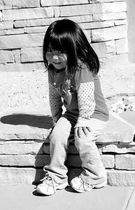 Shy Acoma Child