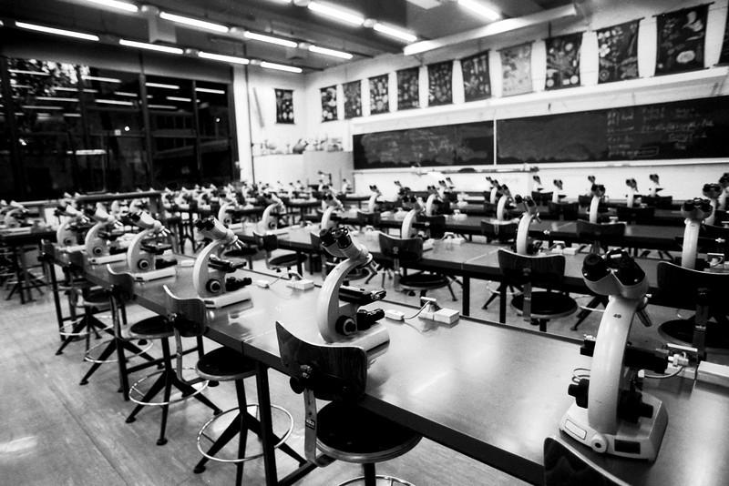 Labo de Biologie, Woluwé  - F100, 20-35 et Ilford 125