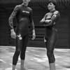 Kinkin & Auré les nageurs durant le stage à Platja d'Aro - F100, 50mm & Tmax 100