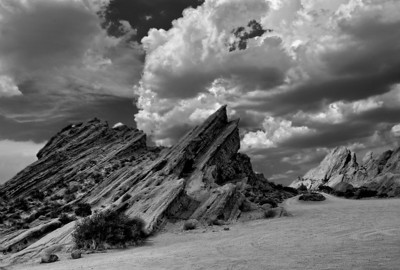 Vasquez Rocks in B/W