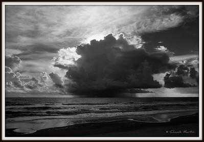 Early morning rain over the Atlantic. South Ponte Vedra Beach, FL.