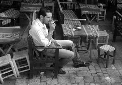 Pensive Man in Cafe'