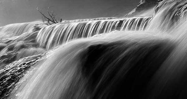 Bond Falls near Paulding, Michigan, on the Ontonagon river - #0071