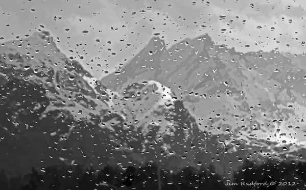 Norwegian fjords through car window, #0356