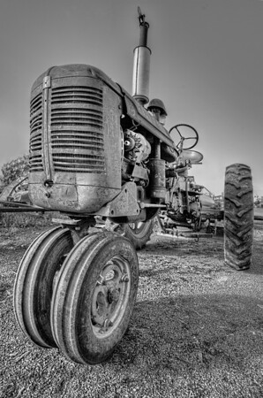 Farmall 3 Tractor from 1950s at Franconia