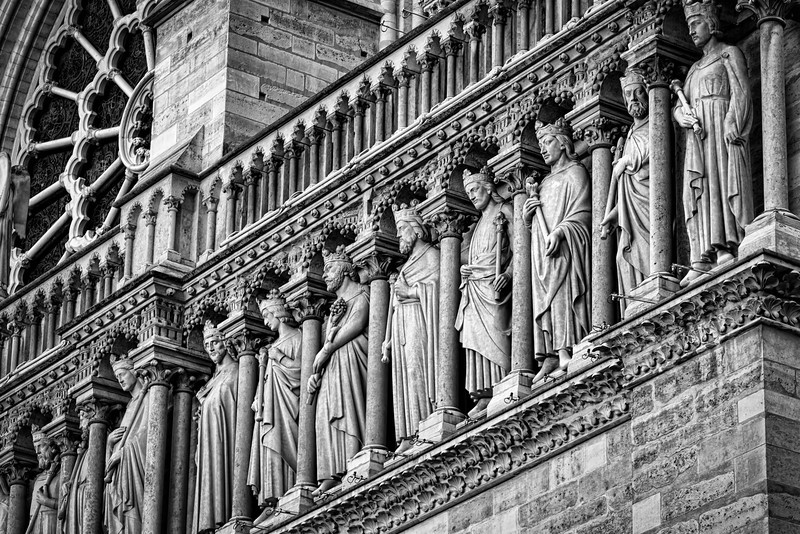 Details of the Notre Dame facade