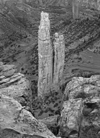 Canyon de Chelly National Monument, Arizona - Spider Rock, site of TV commercials, #0261