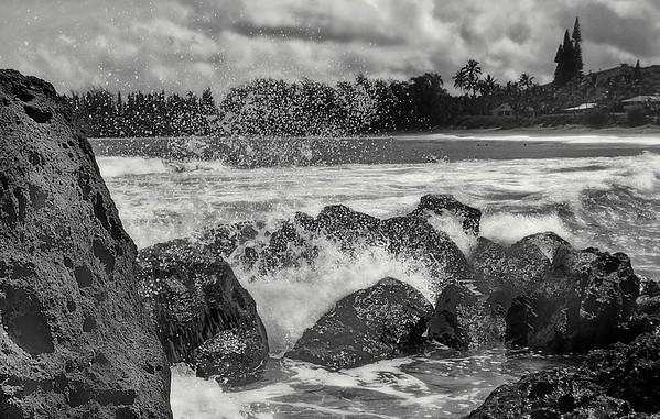 Kee Beach breaker rocks, Kauai, Hawaii - #0093
