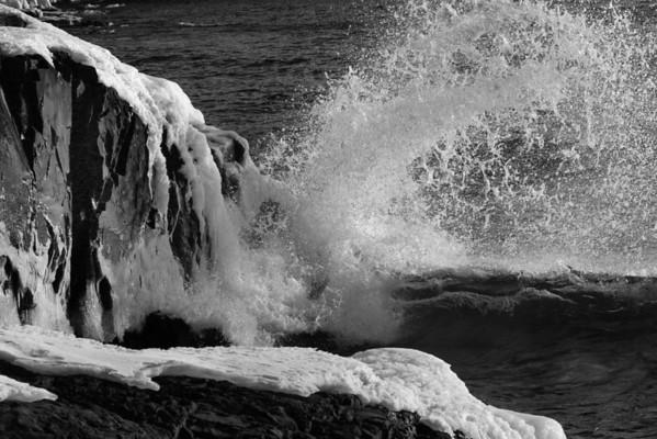 Winter on Lake Superior, Split Rock, North Shore, Minnesota, 0170