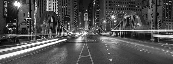 LaSalle Street By Night