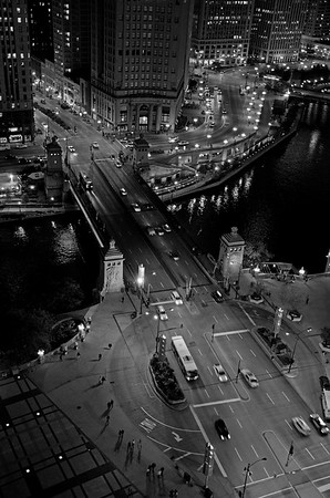 The Michigan Avenue Bridge By Night